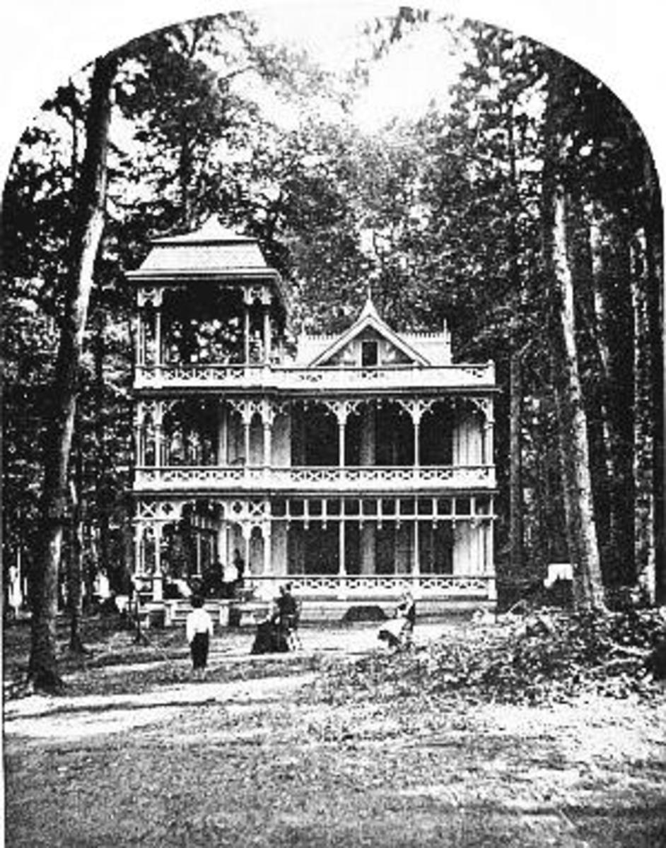 The Women's Club Building at Chautauqua Lake, circa 1895; Alice Birney presented her idea for a National Mothers Congress there during the summer of 1895. Two years later, the first conference of the NMC was held in Washington, D.C.