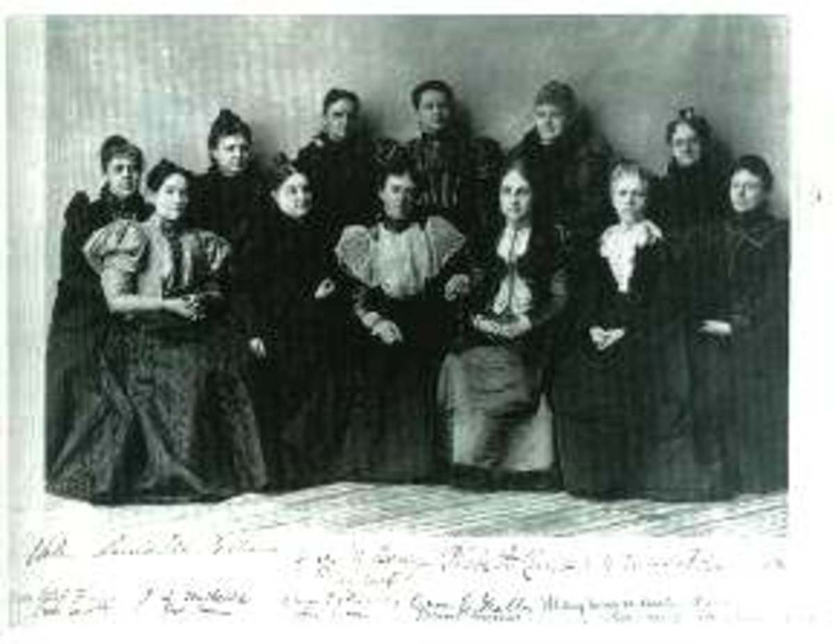 The First  Executive Commitee of the first National Mothers Congress 1897.  Alice Birney is front and center.  The National Mother's Congress was formed with the intention of bettering the lives of children through the education of the mother.