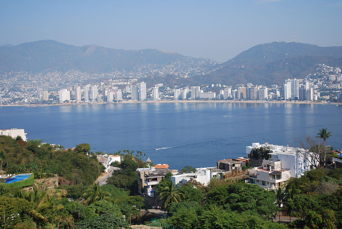 Panoramic of Acapulco from the Carretera Escenica.  We also had a view much like this from our casita at Las Brisas