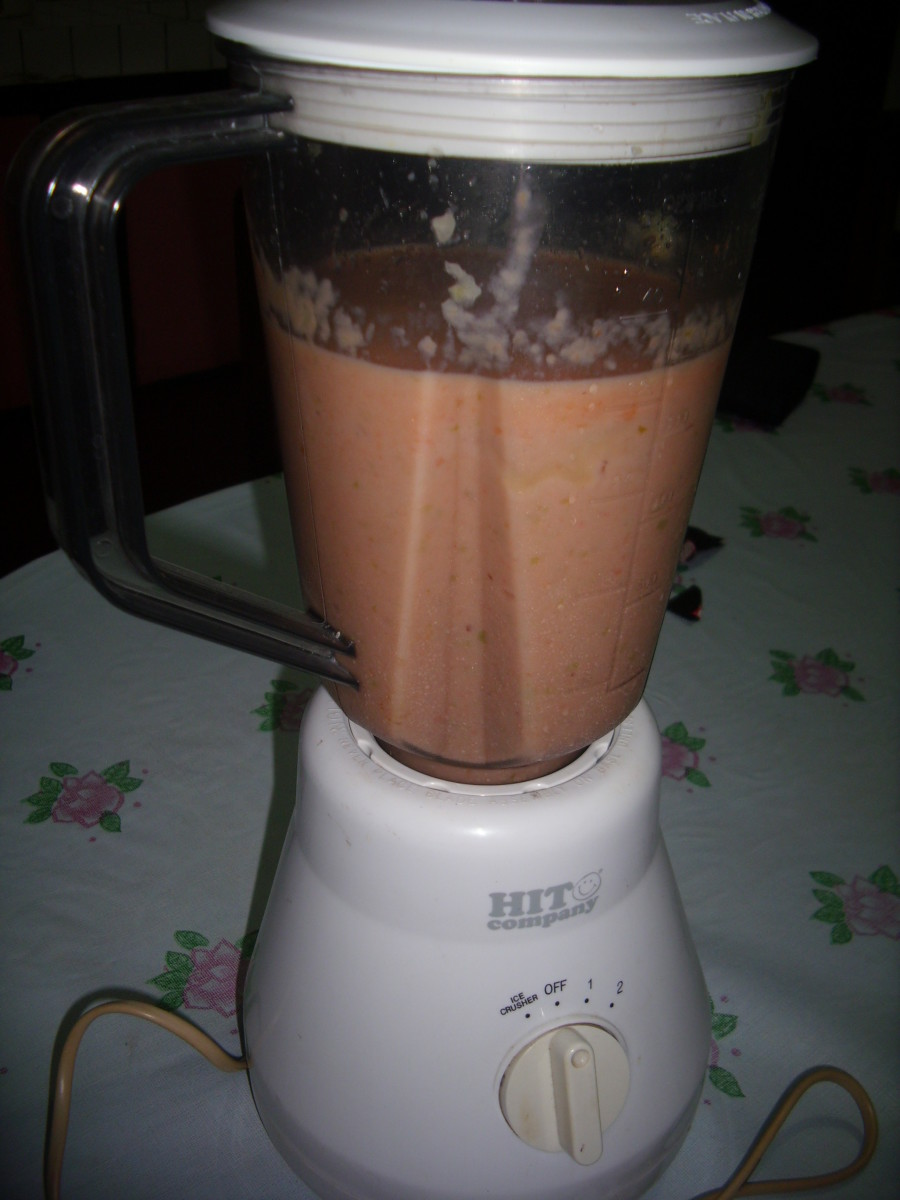 Star Fruit / Carambola and  Papaya Smoothie
