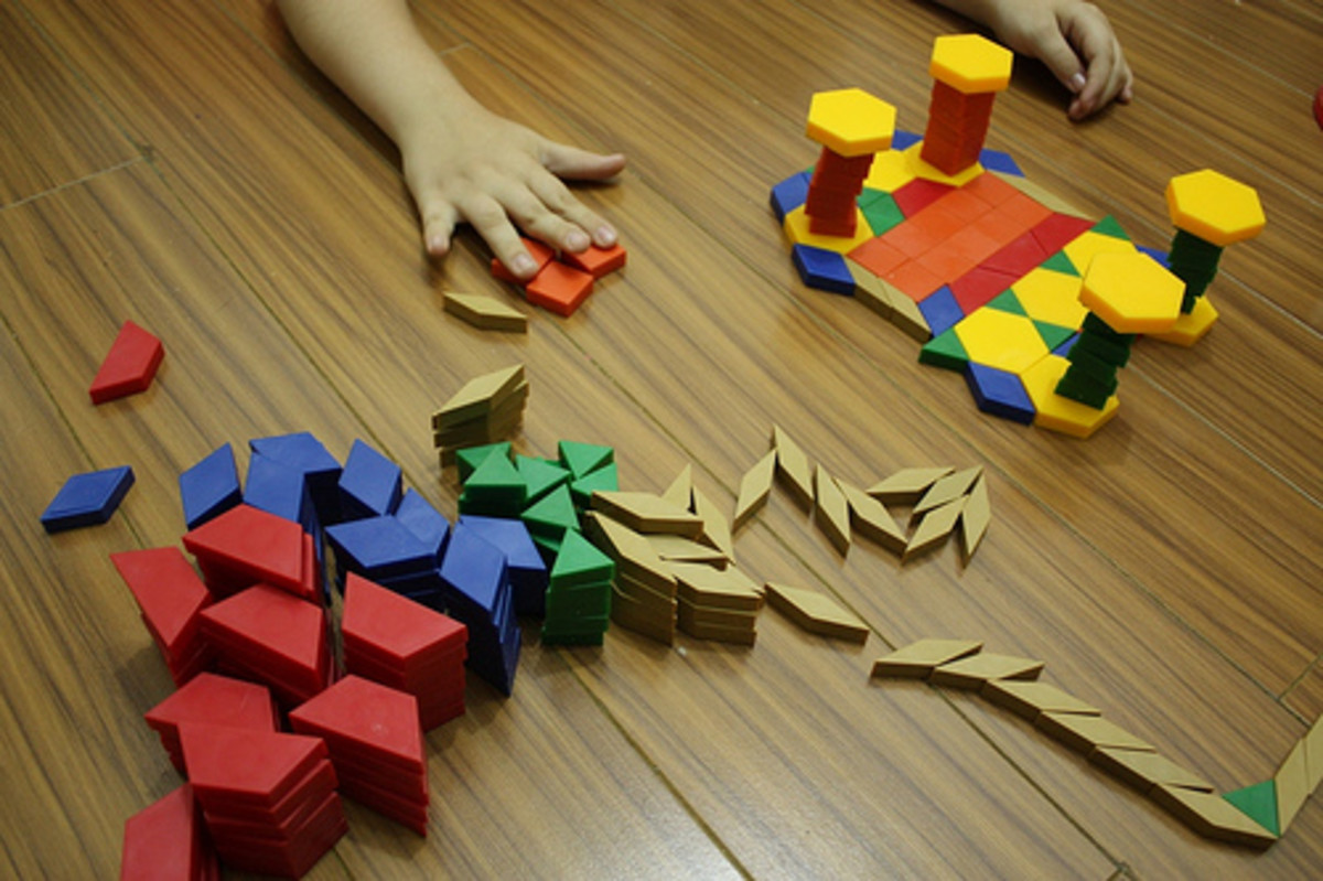 There are so many options for using pattern blocks in math lessons.