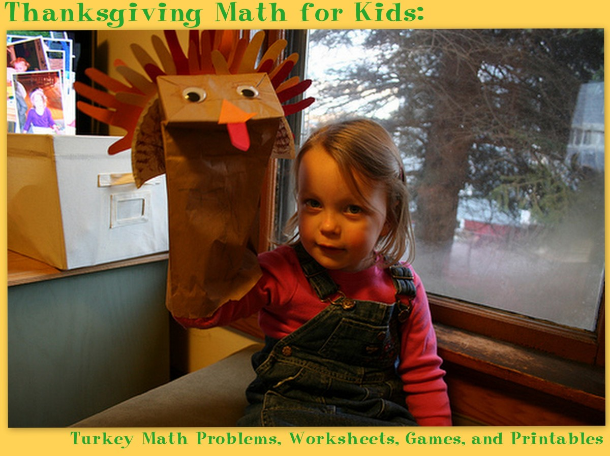 There are so many possibilities for math with paper turkeys during November.