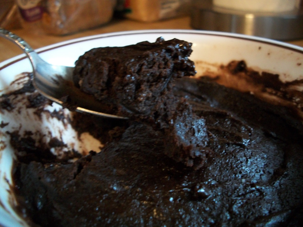 Warm and Gooey Brownie in under 5 minutes :)