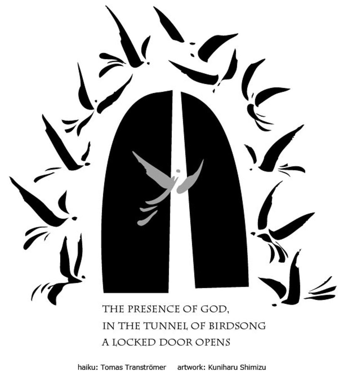 Haiku by Nobel Prize winning poet Tomas Tranströmer; art by Kuniharu Shimizu
