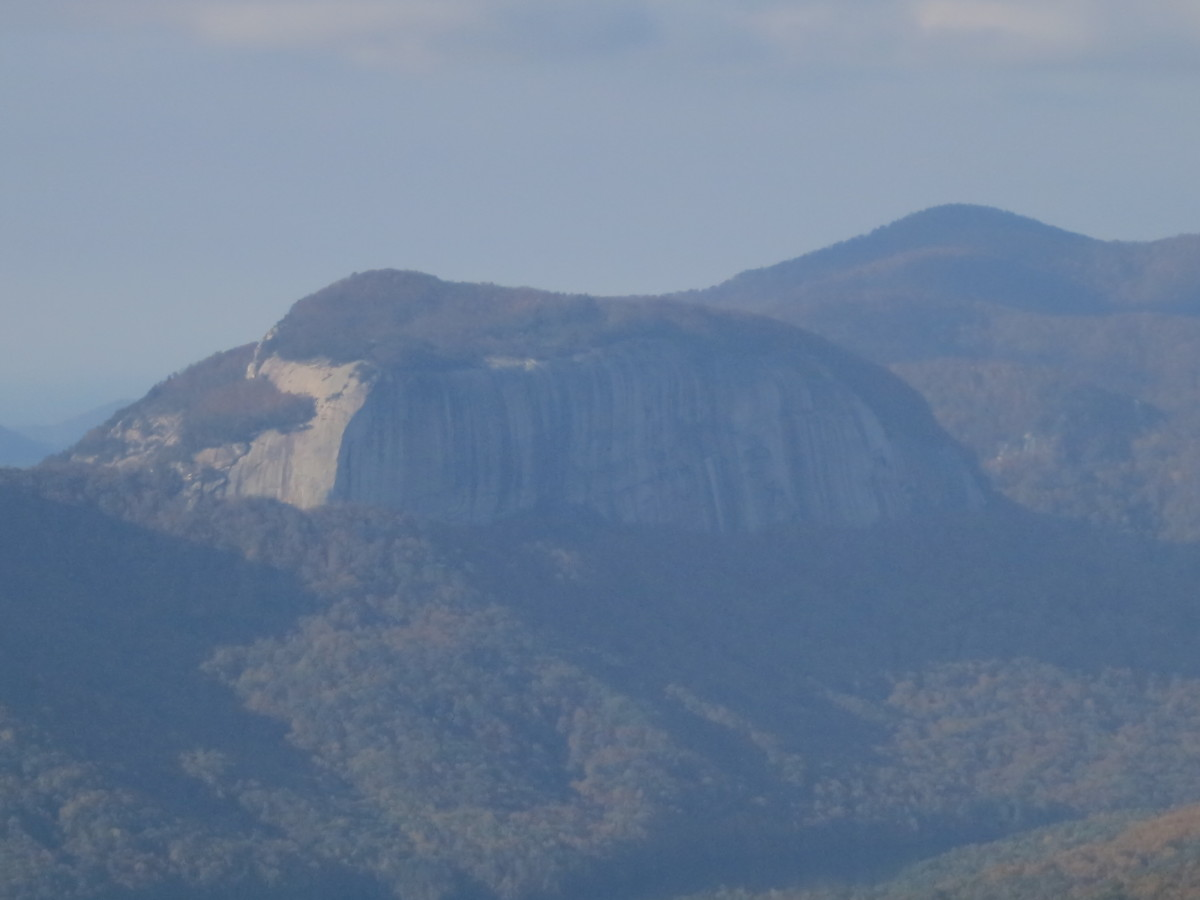 The shear granite walls of Table Rock