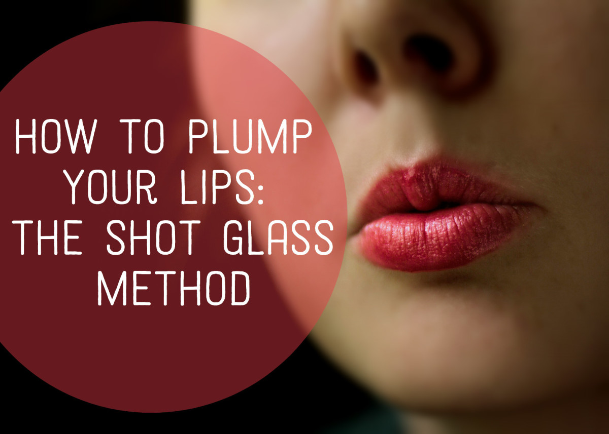 How to Plump Your Lips: The Shot Glass Method