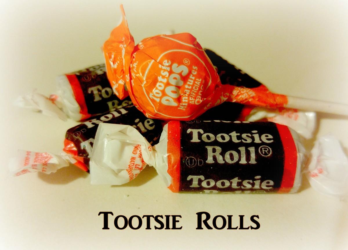 Tootsie rolls and Tootsie Pops are a popular Halloween treat.