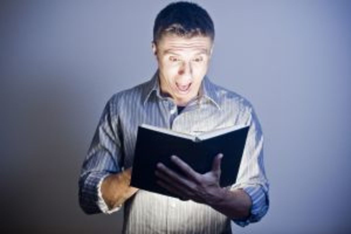 Reading a scary book can provoke fears in the subconscious
