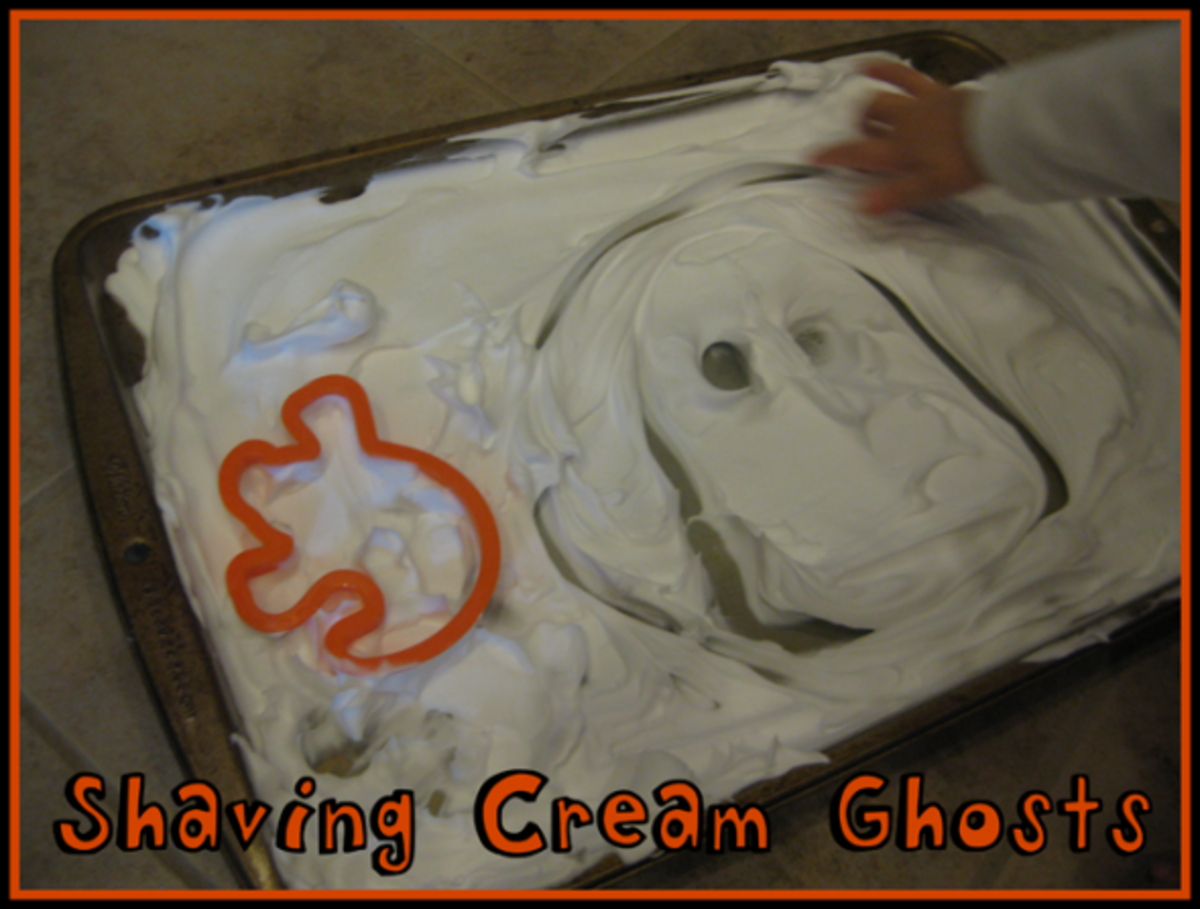 shaving cream ghosts