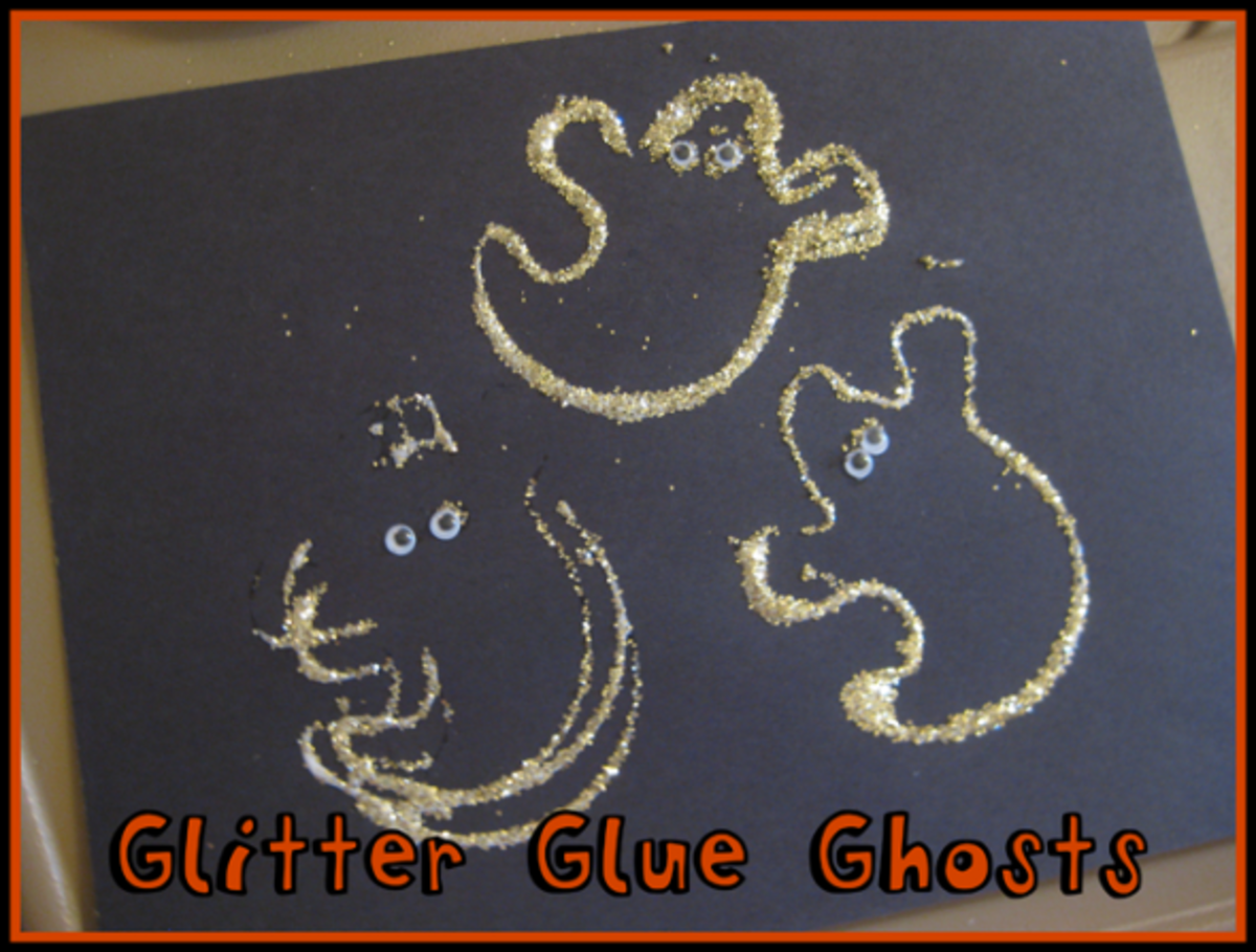 glitter glue ghosts