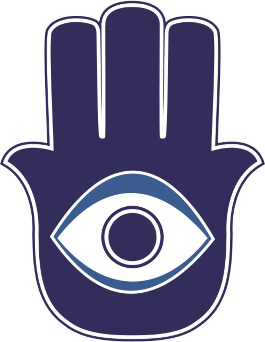The 'Hamsa' charm made to ward off the evil eye.