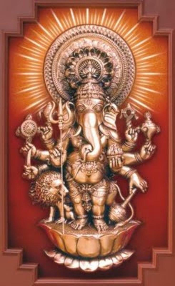 """Una representación de la """"Drishti"""" Ganesha"""