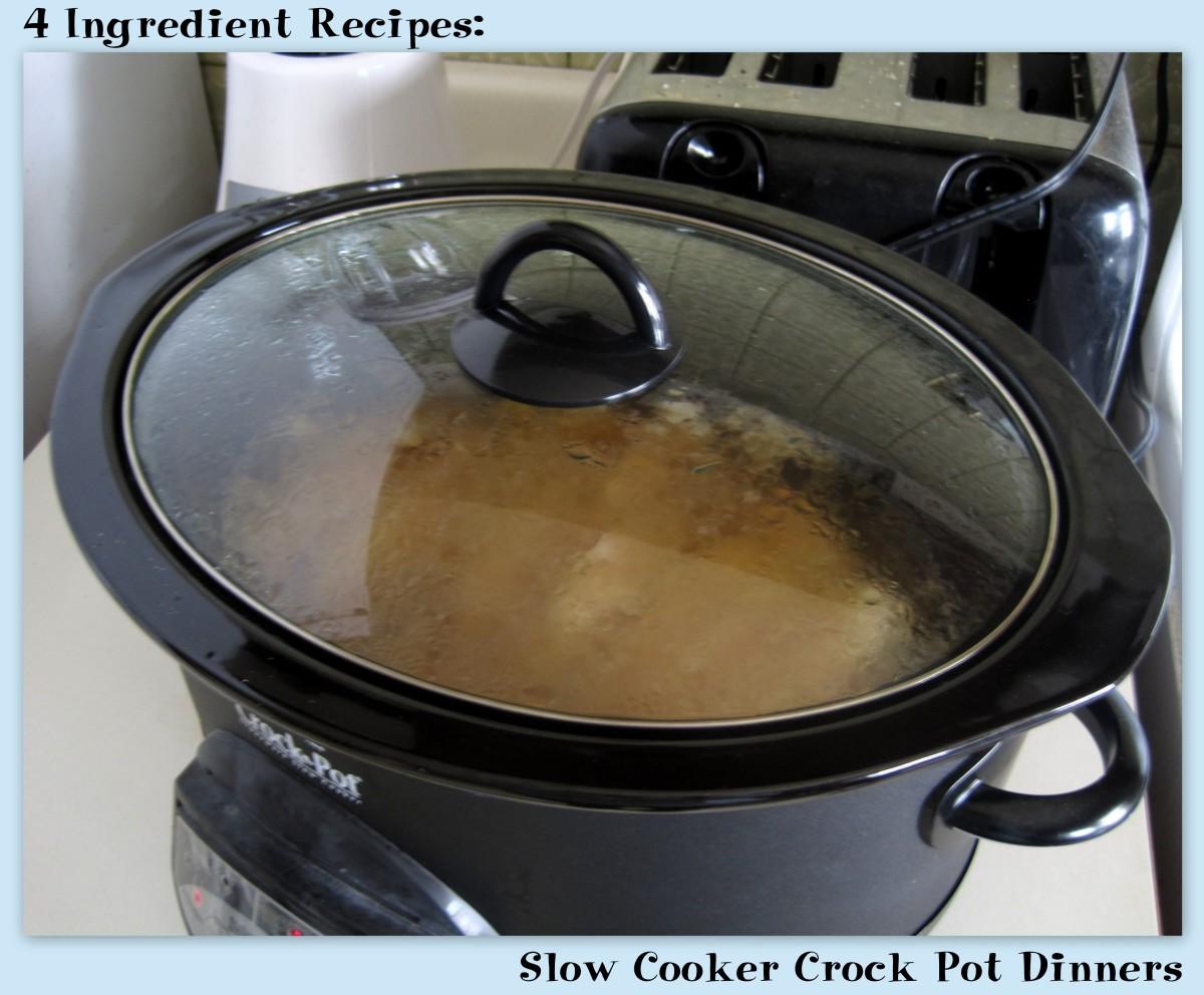 4 Ingredient Recipes: Slow Cooker Crock Pot Dinners