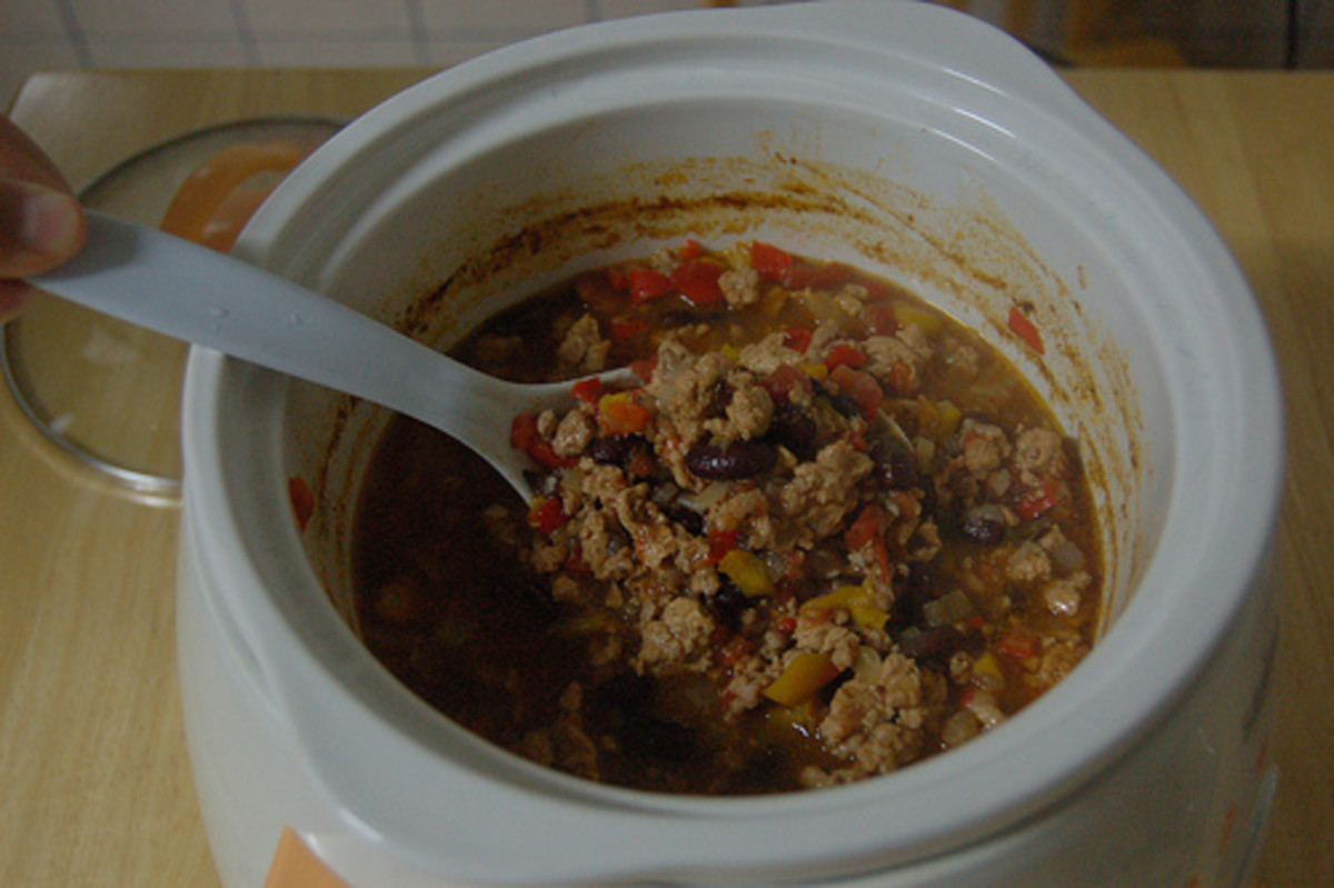 Chili is another classic slow cooker recipe.