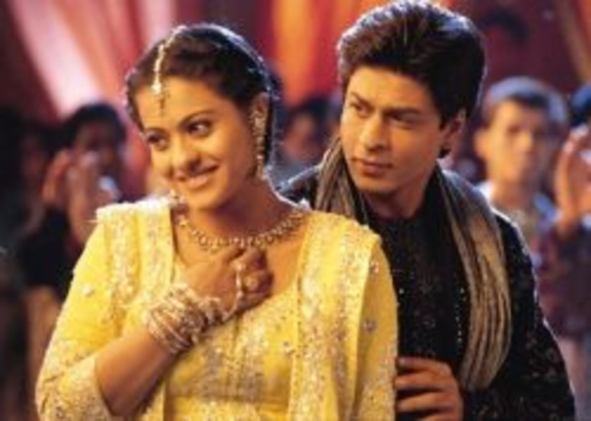 Kajol as Ajali and Shahrukh Khan as Rahul from Kabhi Khushi Khabie Gham