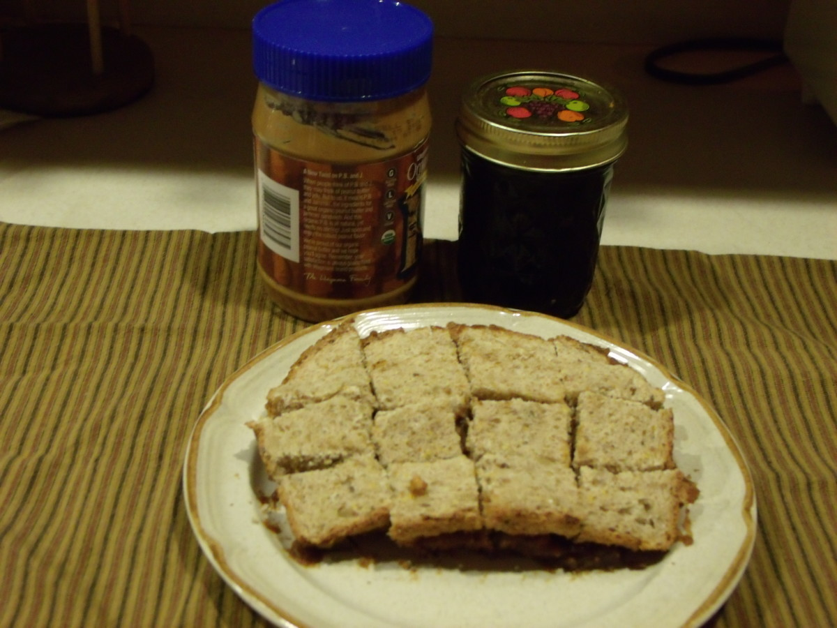 Make a peanut butter and jelly sandwich for your bird feeder visitors.