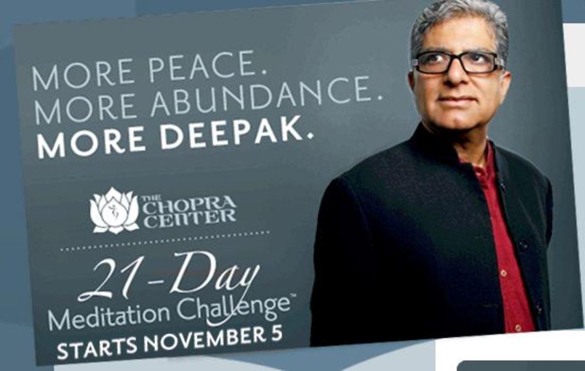 Deepak Chopra's 21 day Meditation Challenge - Creating Abundance - Who's with me?