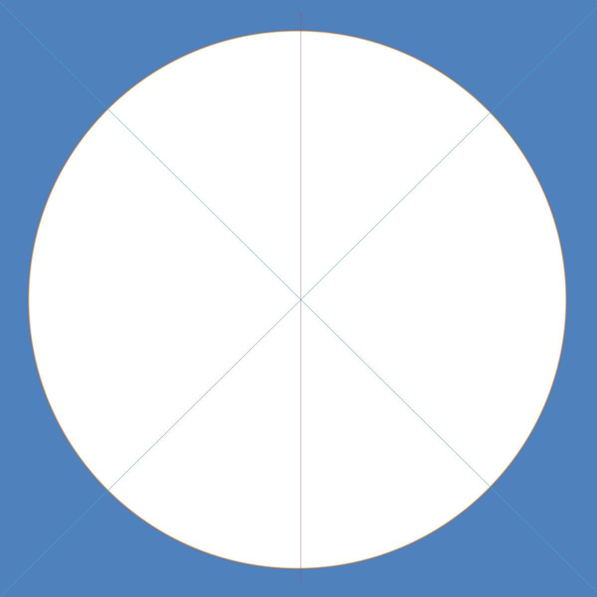 """Figure 1 - Square board 20""""x20""""; diameter 18""""/radius 9"""""""
