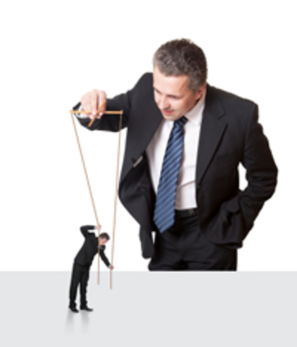 The Controlling personality can quite often make you feel like a puppet on strings and they are your puppeteer.