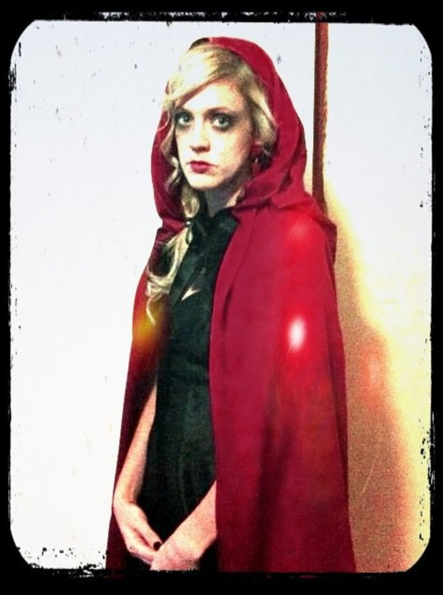 Me as the Ghost of Little Red Riding Hood