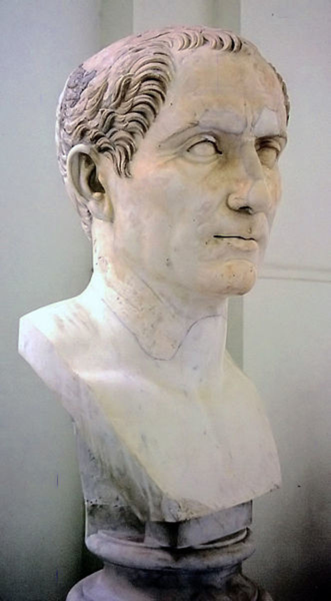 Julius Caesar, probably the most famous Roman of all, who successfully conquered Gaul for Rome.