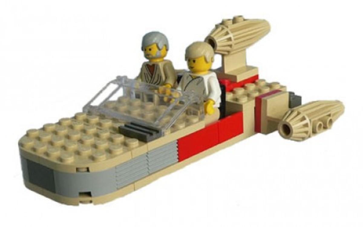 Lego Star Wars Landspeeder 7110 Assembled