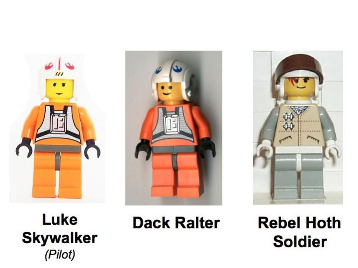 Lego Star Wars Snowspeeder 7130 Minifigures