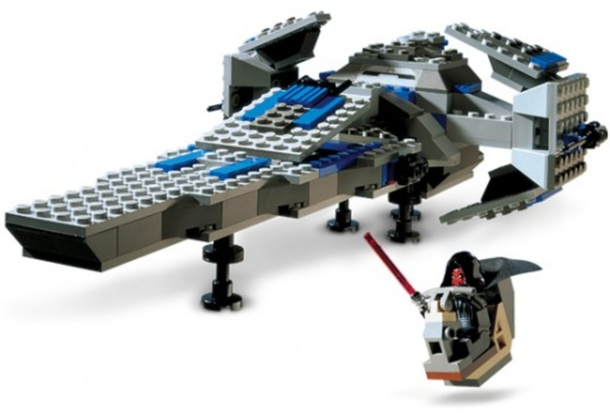 Lego Star Wars Sith Infiltrator 7151 Assembled