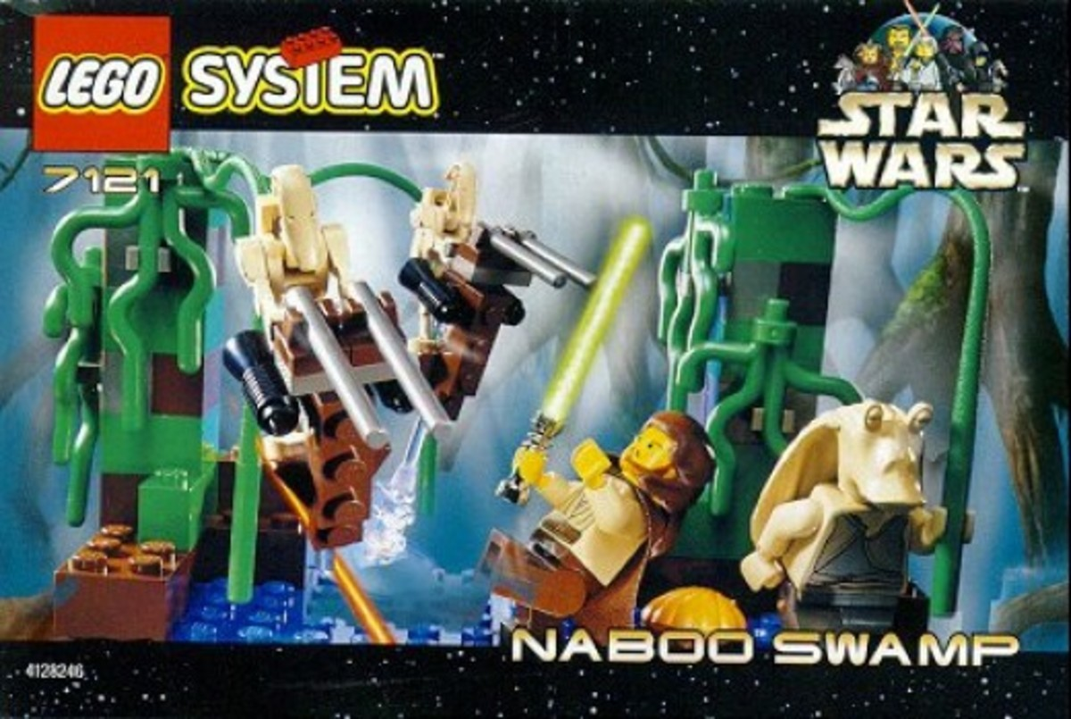 Lego Star Wars Naboo Swamp 7121 Box
