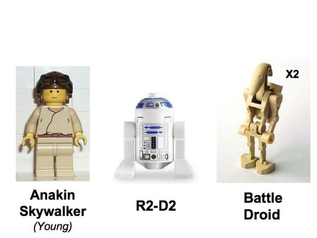 Lego Star Wars Naboo Fighter 7141 Minifigures