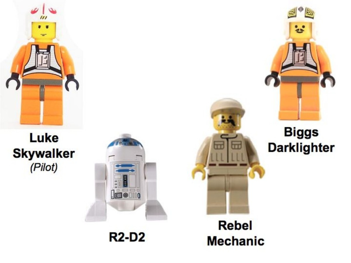 Lego Star Wars X-Wing Fighter 7140 Minifigures