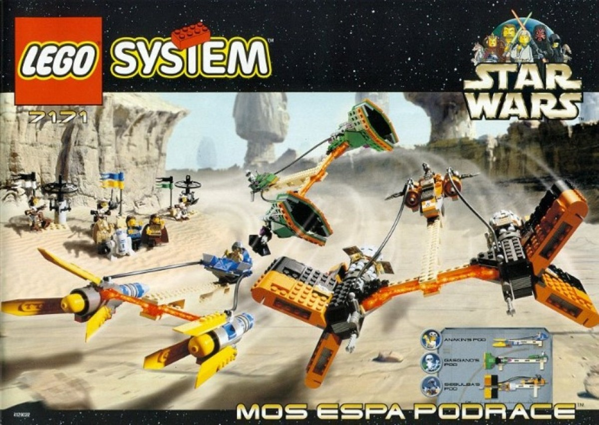 Lego Star Wars Mos Espa Podrace 7171 Box