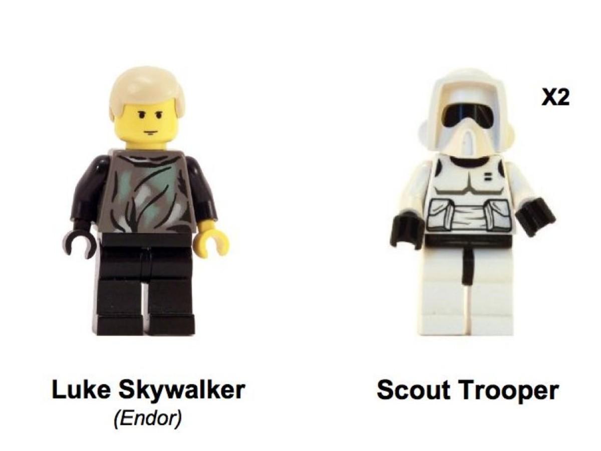 Lego Star Wars Speeder Bikes 7128 Minifigures