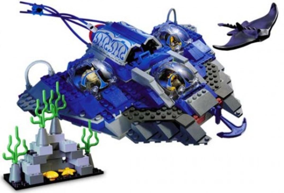 Lego Star Wars Gungan Sub 7161 Assembled