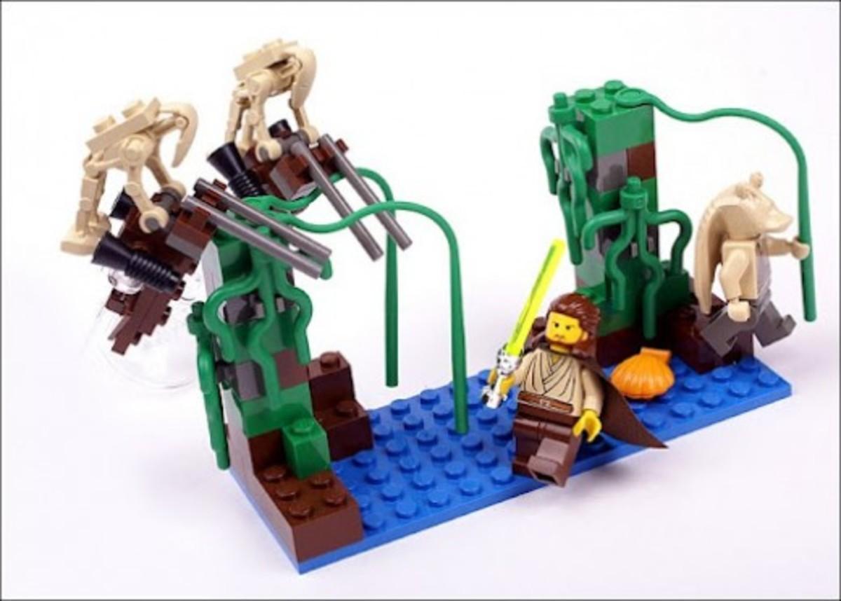 Lego Star Wars Naboo Swamp 7121 Assembled