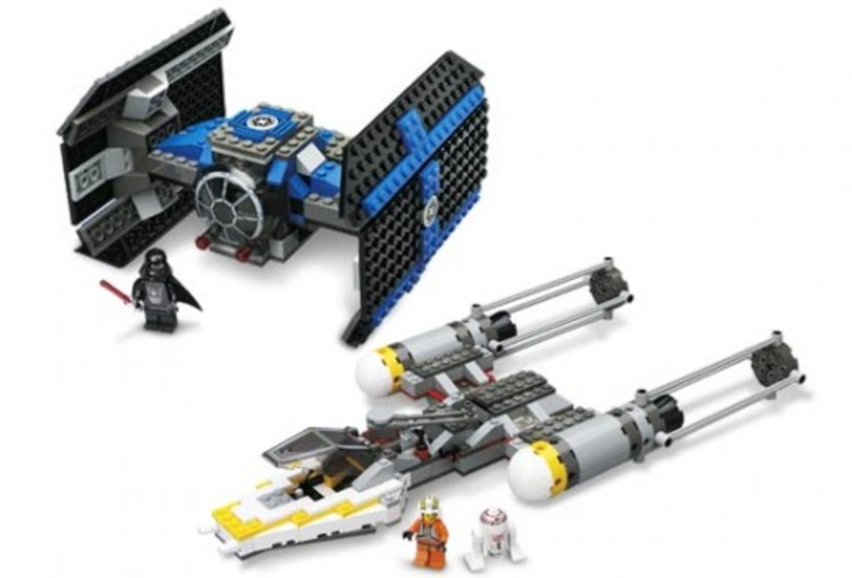 Lego Star Wars TIE Fighter & Y-Wing 7150 Assembled