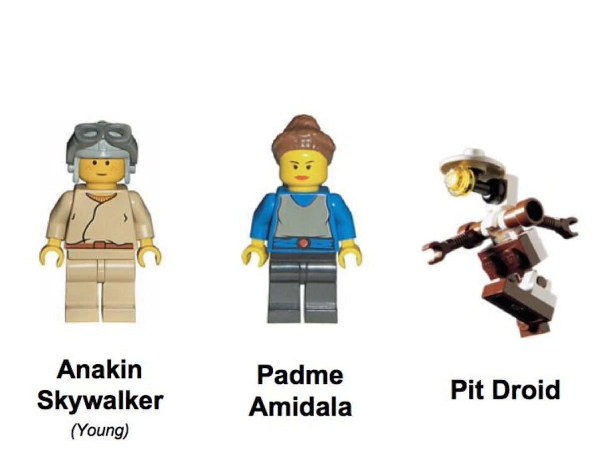 Lego Star Wars Anakin's Podracer 7131 Minifigures