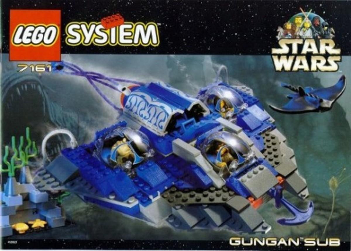 Lego Star Wars Gungan Sub 7161 Box
