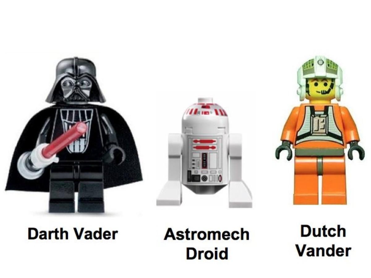 Lego Star Wars TIE Fighter & Y-Wing 7150 Minifigures