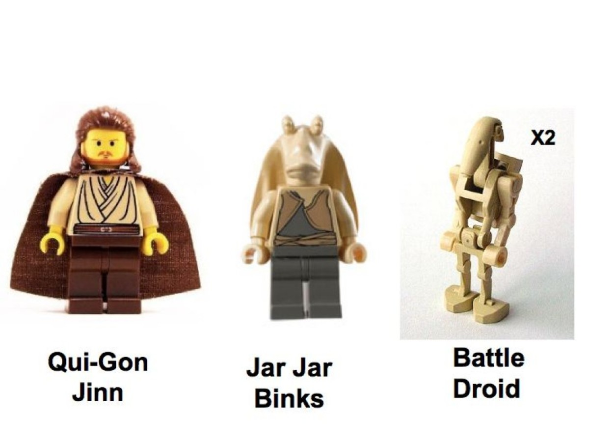 Lego Star Wars Naboo Swamp 7121 Minifigures