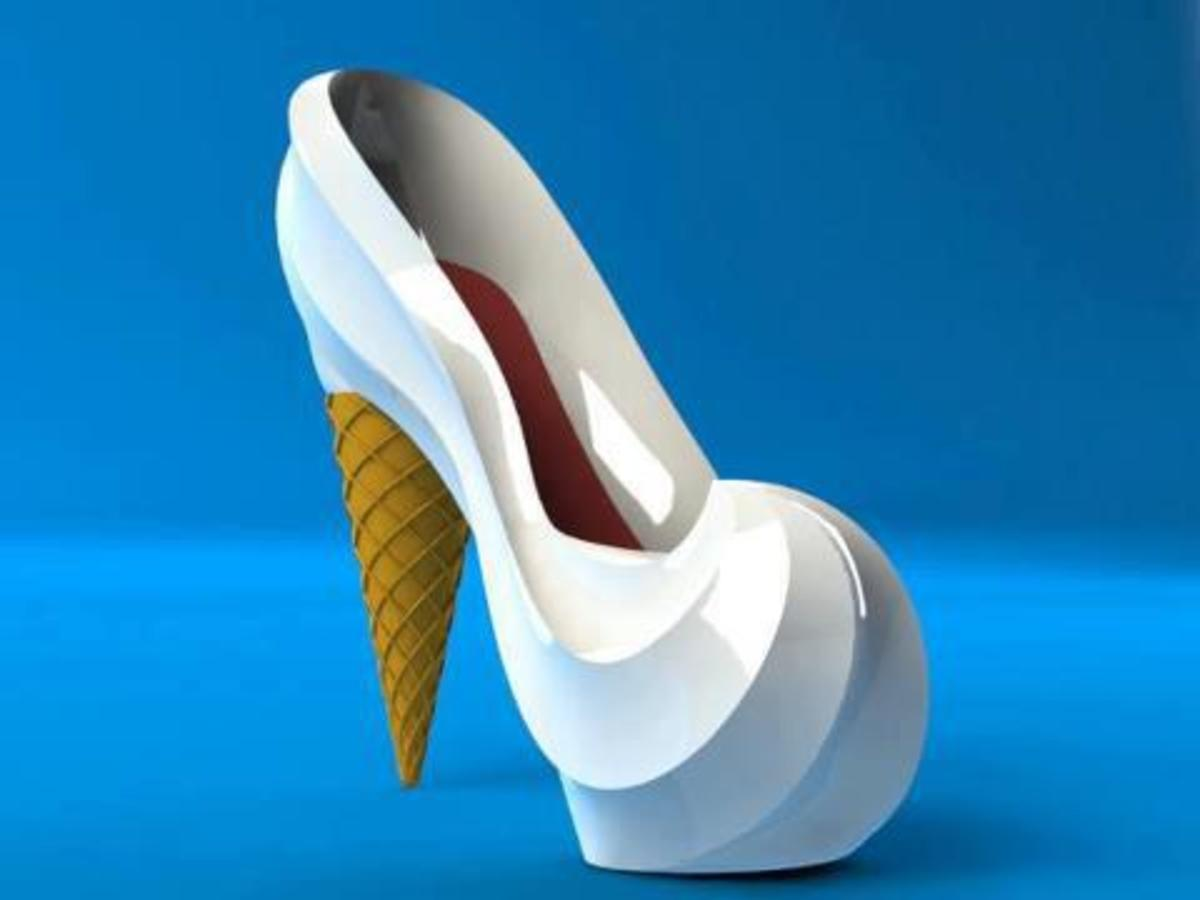 Ice- cream heels not for consumption.