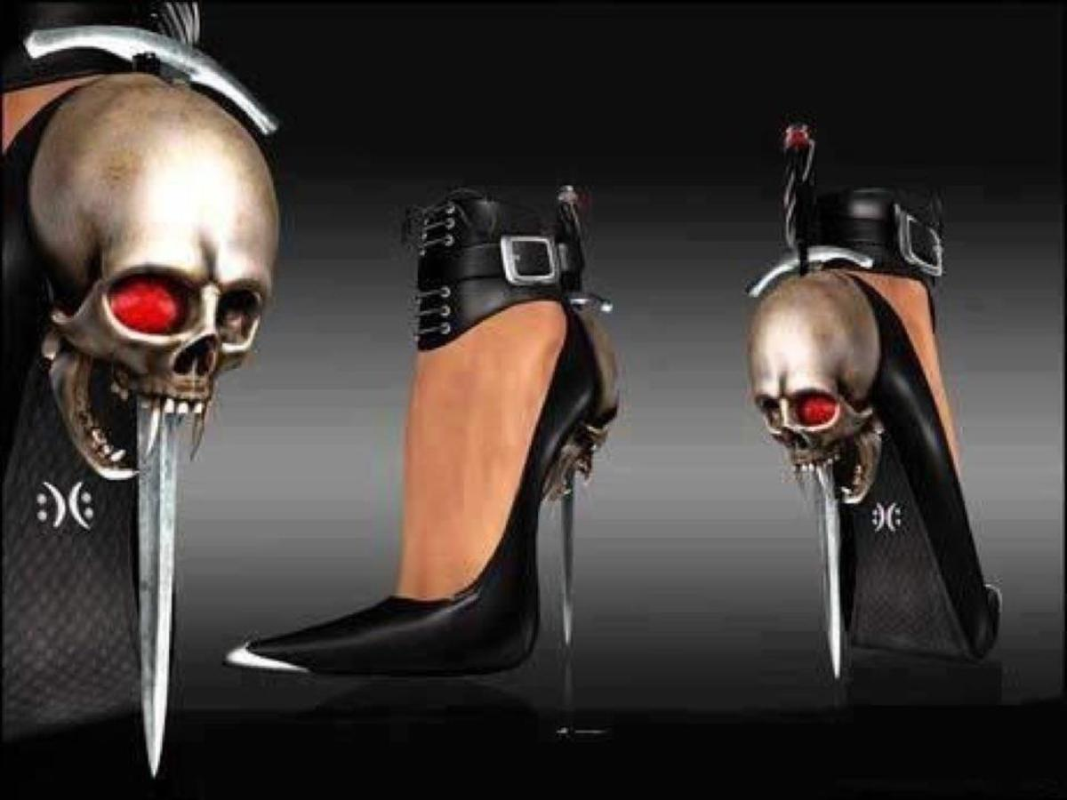 Dangerous - who said heels aren't able to be used as a weapon....