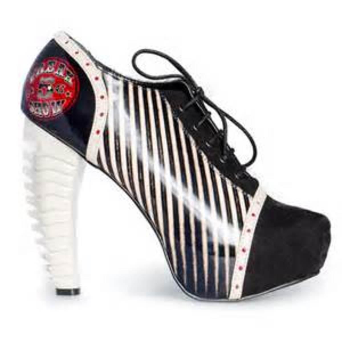 Men's shoes tuned ladies heels.
