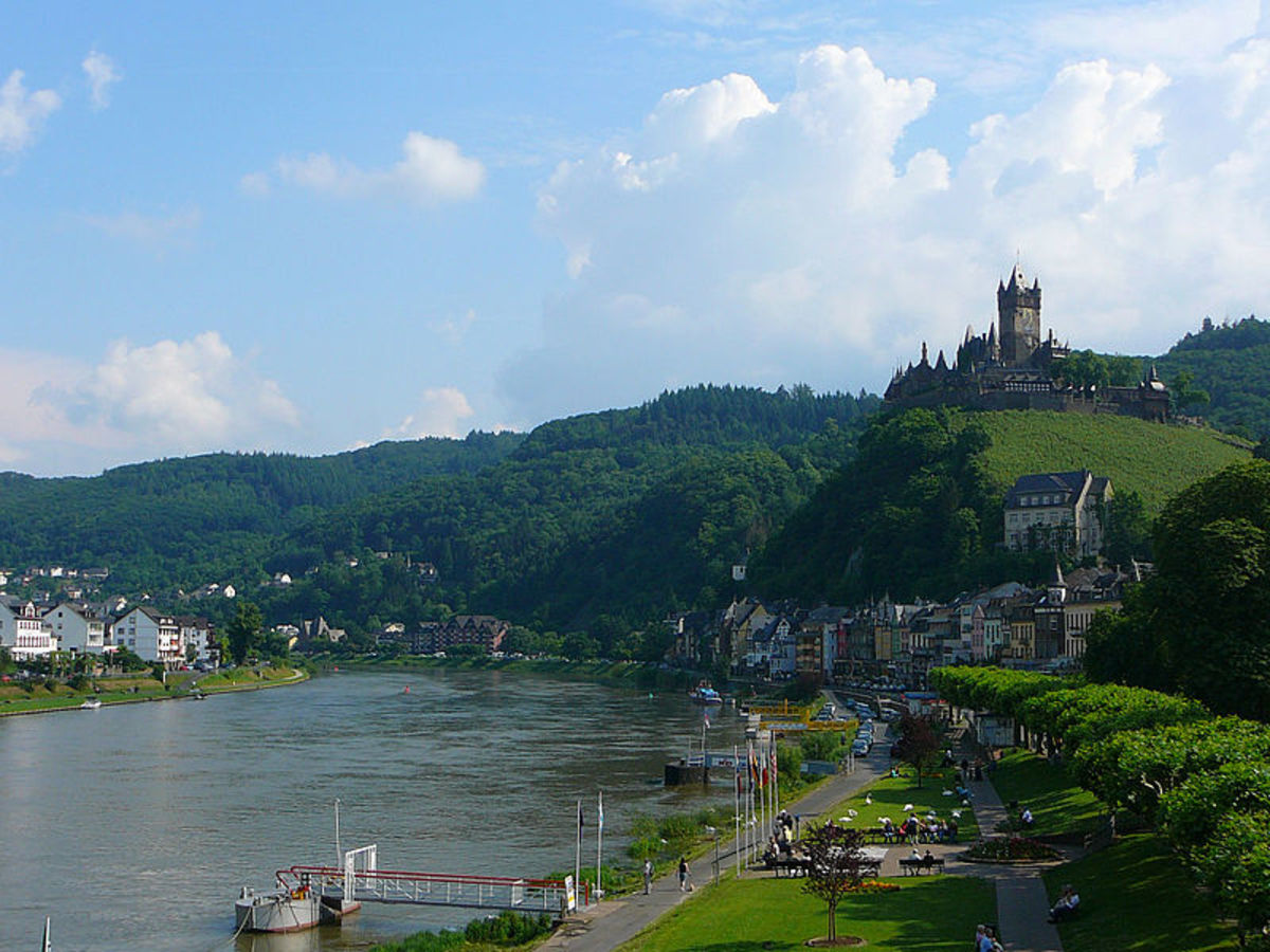 The scenic Rhineland as is appears today