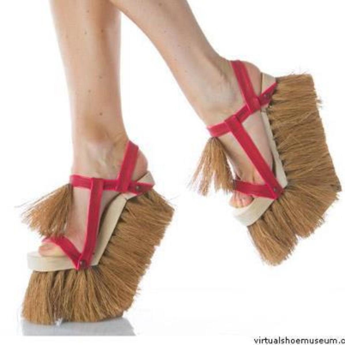 Taking the mop slipper to a new level. The brush heel, good for corners...