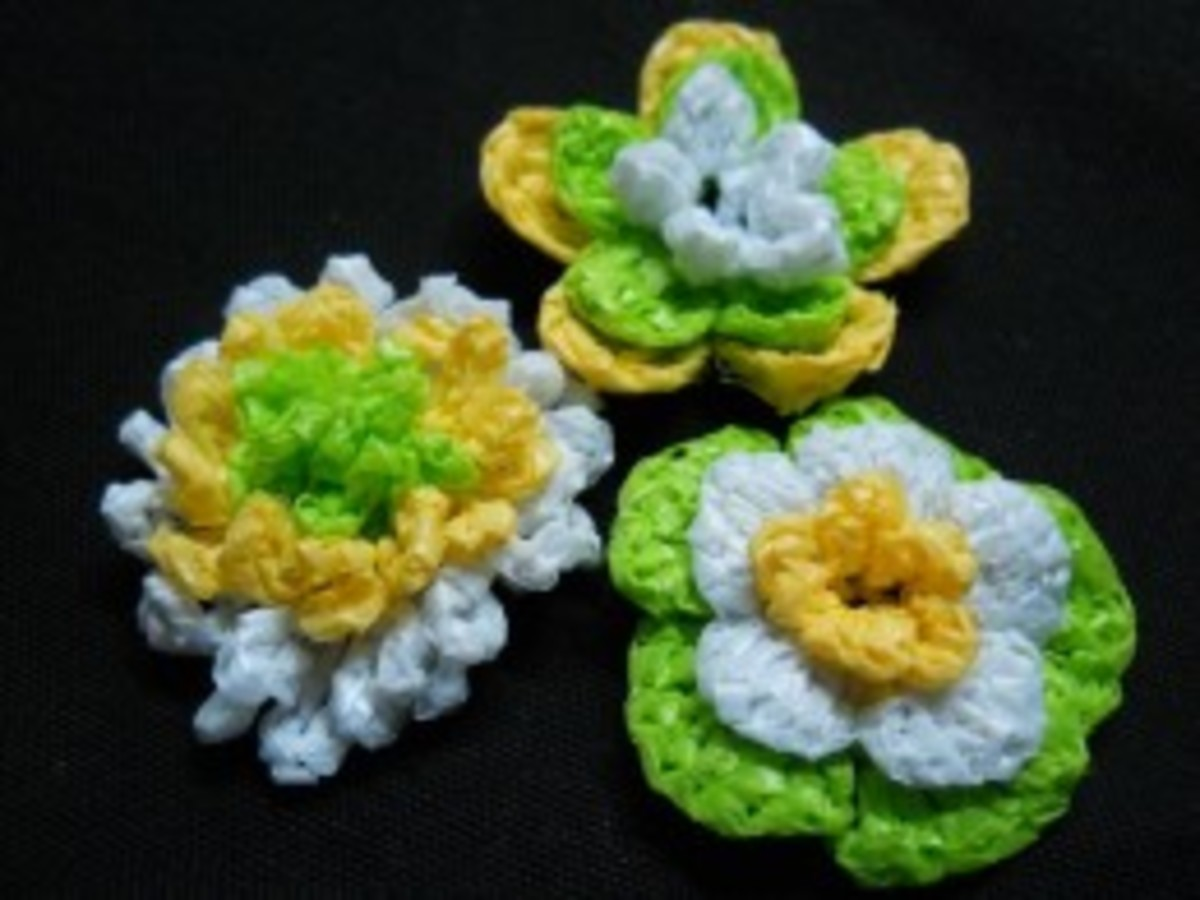 3D 3 Layer Flowers