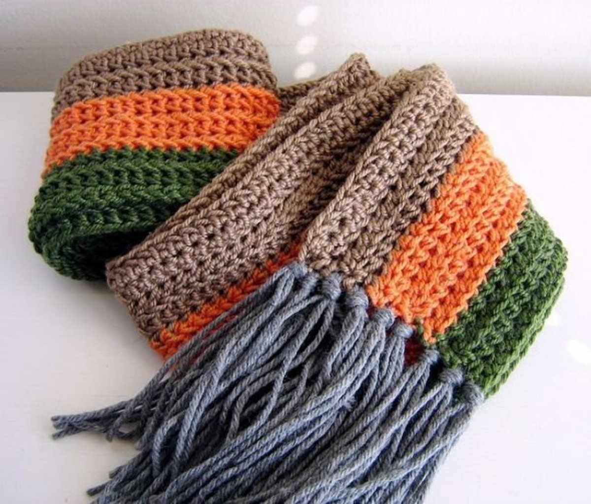 Crochet Scarf Autumn Colors