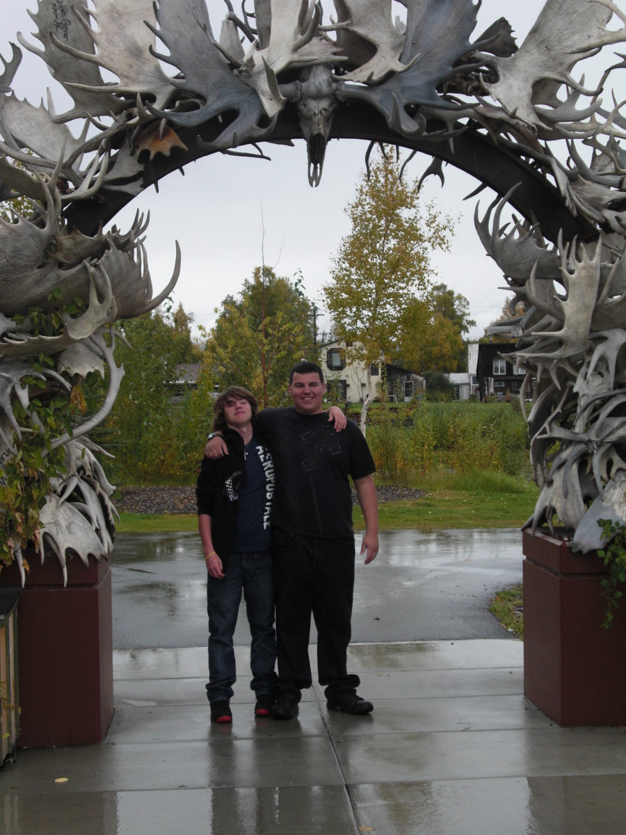 Call your family when you're at the antler arch and wave for the webcam!