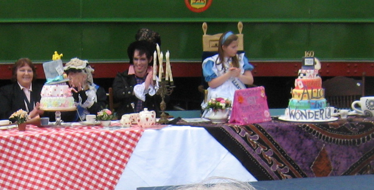Alice in Wonderland Mad Tea Party at Llandudno in Wales UK