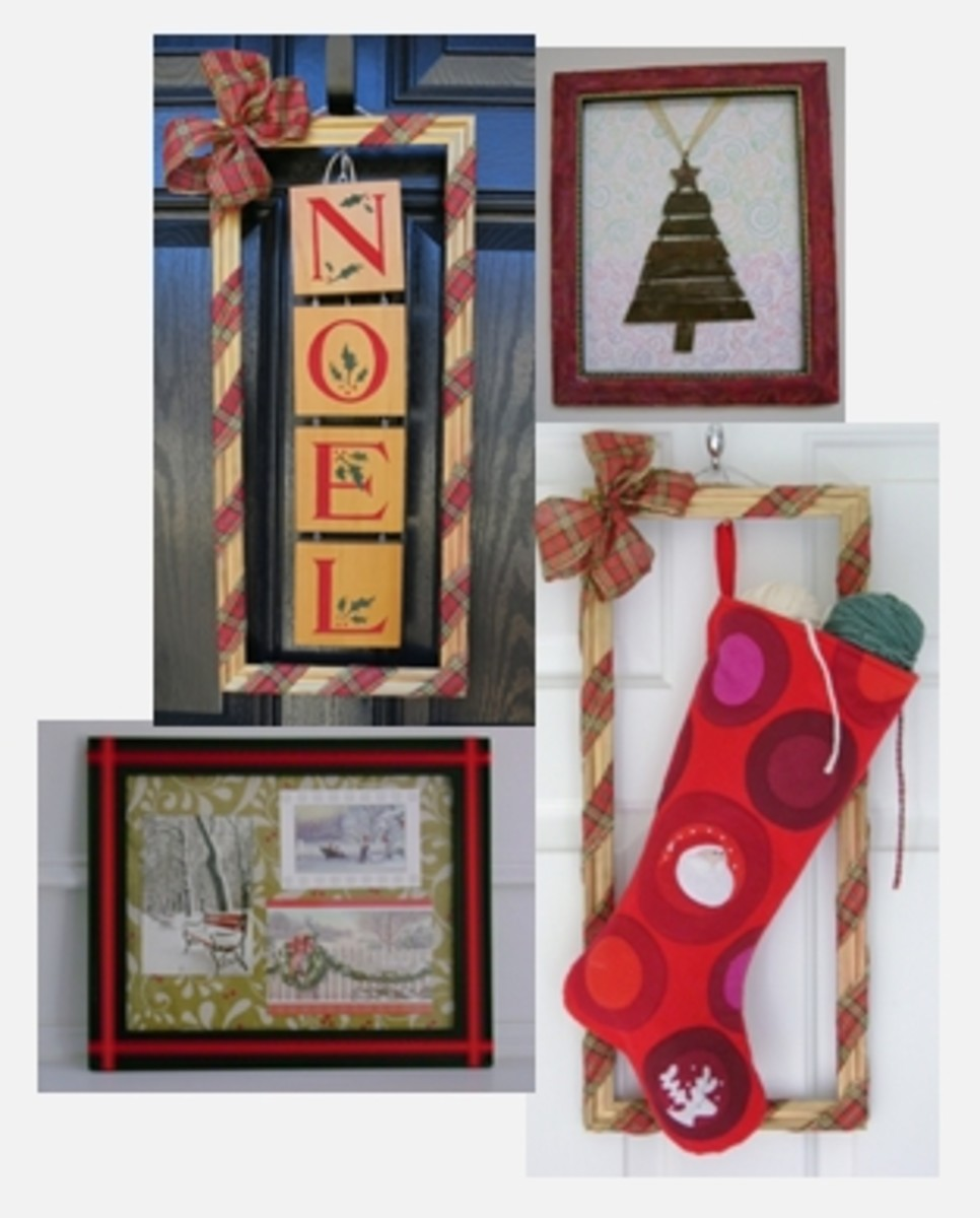 Christmas Holiday Decorating Ideas Using Basic Picture or Photo Frames